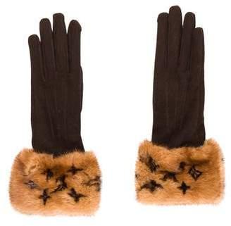 Louis Vuitton Monogram Mink Gloves