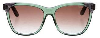 Bottega Veneta Wayfarer Intrecciato Sunglasses