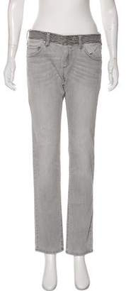 Etoile Isabel Marant Embroidered Mid-Rise Straight-Leg Jeans