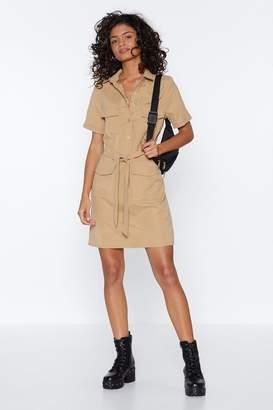 Nasty Gal Work Wonders Button-Up Mini Dress