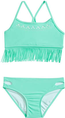Summer Crush 2-Pc. Fringed Bikini, Big Girls