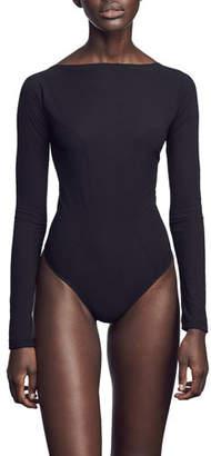 Kiki de Montparnasse Backless Long-Sleeve Bodysuit