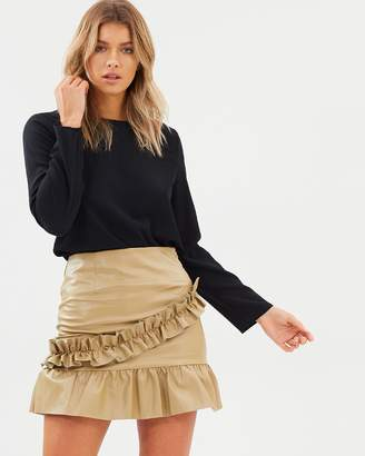 Atmos & Here ICONIC EXCLUSIVE - Manolo Ruffle Hem Skirt