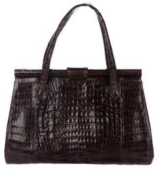 Nancy Gonzalez Crocodile Frame Bag
