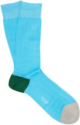 Paul Smith Colour-block cotton-blend socks