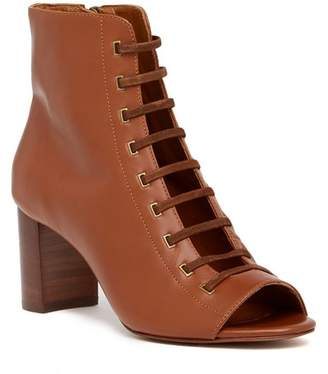 Aquatalia Stefania Leather Open Toe Bootie
