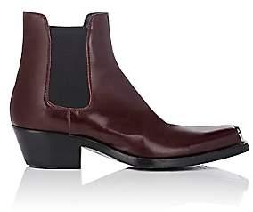 Calvin Klein Men's Spazzolato Leather Chelsea Boots-Wine