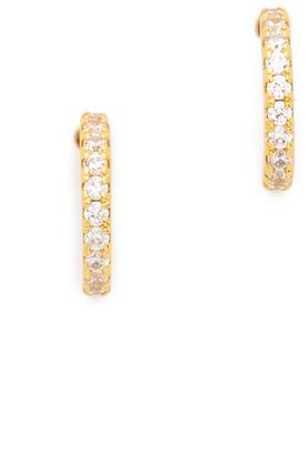 Gorjana Shimmer Mini Half Hoop Earrings $35 thestylecure.com