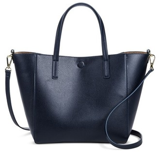 Merona Women's Small Reversible Faux Leather Tote $29.99 thestylecure.com