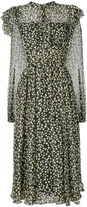 No.21 star print ruffle dress