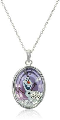Disney Girls' Plated Frozen Olaf Shaker Pendant Necklace