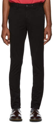 Rag & Bone Black Fit 1 Classic Chino Trousers