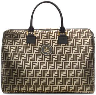 Fendi Black and Gold Forever Duffle Bag