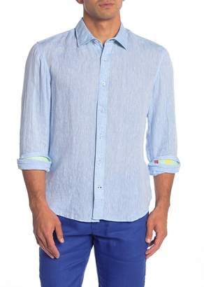 Ganesh Solid Long Sleeve Linen Shirt