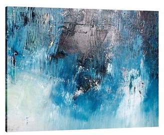 NEW United Interiors Booming Blue Landscape Canvas Print