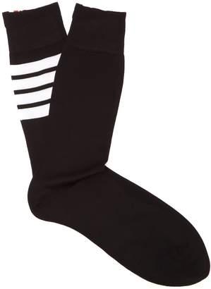 Thom Browne Intarsia-striped cotton socks