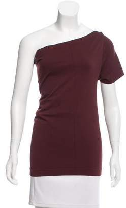 Helmut Lang Seamless One-Shoulder Top w/ Tags