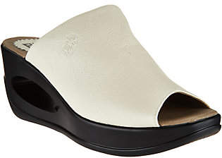 Fly London Leather Wedge Slide Sandals - Hima