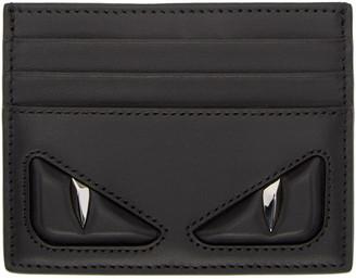 Fendi Black 'Bag Bug' Card Holder $350 thestylecure.com