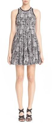 Women's Parker 'Rio' Geometric Print Fit & Flare Dress $298 thestylecure.com
