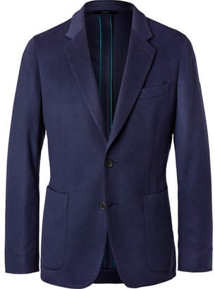 Paul Smith Navy Soho Slim-Fit Unstructured Cashmere Blazer