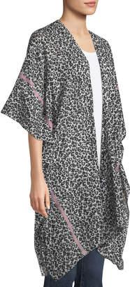 Raj Cheetah-Print Cotton Kimono