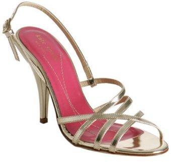 Kate Spade gold metallic leather 'Hazel' sandals