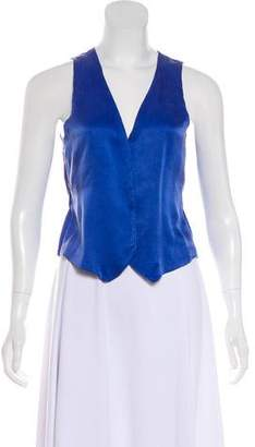 Tomas Maier Silk-Blend Sleeveless Blouse