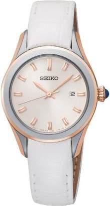 Seiko Women's SXDF70 Leather Quartz Watch
