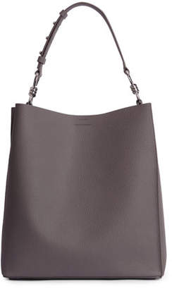 AllSaints Captain Tall Pebbled Leather Tote Bag
