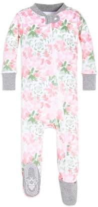 Burt's Bees Baby Tossed Succulent Organic Zip Up Footed Pajamas