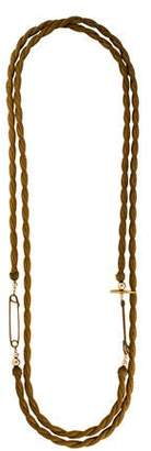Gabriela Artigas Safety Pin Long Woven Chain Necklace