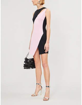David Koma Two-tone crepe dress