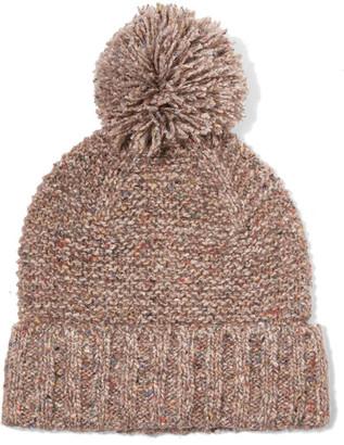 J.Crew - Jasper Pompom-embellished Chunky-knit Beanie - Mushroom $45 thestylecure.com