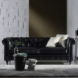 Madison Home USA Tufted Leather Chesterfield Sofa