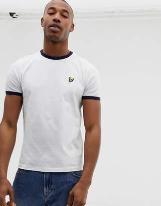 Lyle & Scott logo ringer t-shirt in white