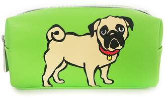 Marc Tetro Small Green Pug Cosmetic Case
