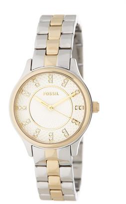 Fossil Women&s Two-Tone Bracelet Watch $125 thestylecure.com