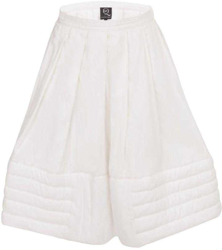 McQ by Alexander McQueen Cotton Twill Puff Skirt