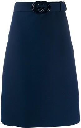 Gucci GG belt a-line skirt