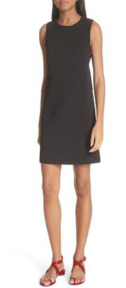 Tibi Back Cutout Sleeveless Crepe Dress