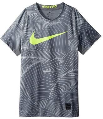 Nike Pro Short Sleeve Printed Training Top Boy's Clothing