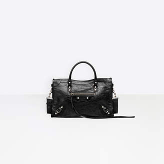 """Balenciaga Small size lambskin hand carry and shoulder bag with """"classic"""" shiny hardware"""
