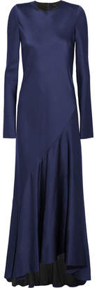 Haider Ackermann Satin Maxi Dress - Indigo