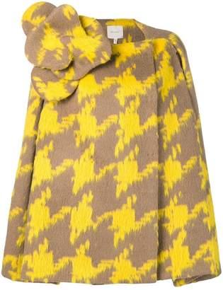 DELPOZO textured cape coat