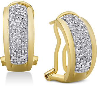 Townsend Victoria Diamond J-Hoop Earrings (1/4 ct. t.w.)