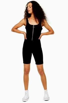 Topshop Womens Petite Joni Cycle Playsuit - Black