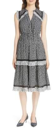 Kate Spade plains ditsy a-line dress