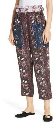 Apiece Apart Danelia Print Crop Pants