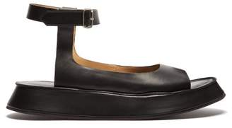 5bebd1905b36fd Jil Sander Leather Flatform Sandals - Womens - Black